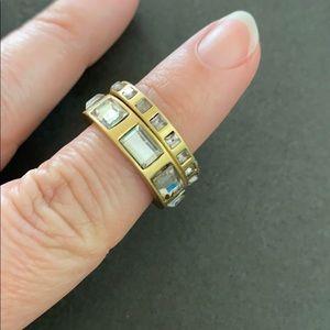 Lia Sophia stackable rings genuine crystals